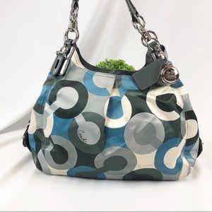 Coach Mia Bias Opt Art Maggie shoulder bag purse